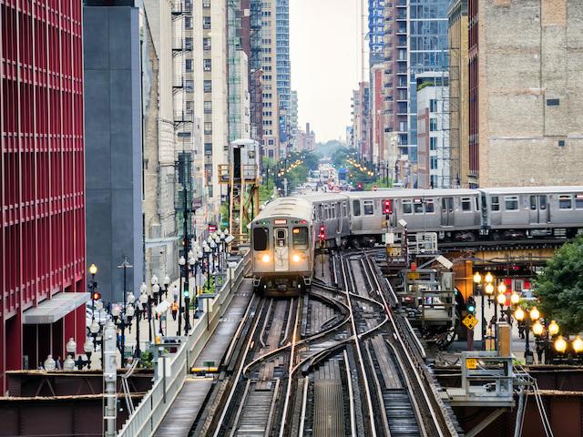 アメリカ・シカゴ高架鉄道