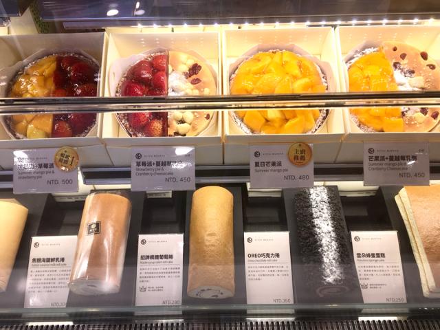 フルーツタルトやロールケーキ