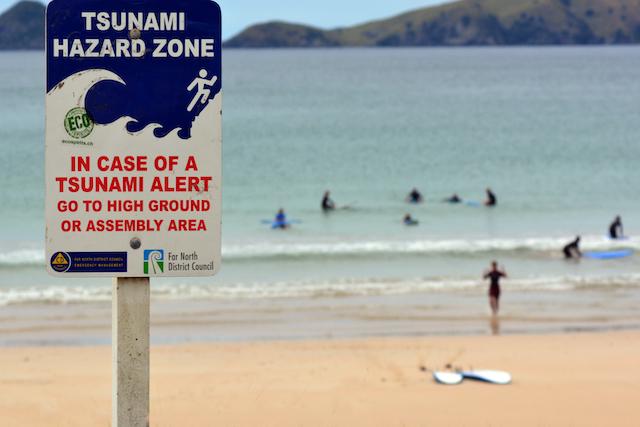 津波警告標識