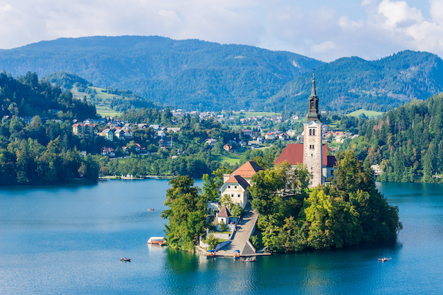 スロヴェニア・ブレッド湖聖母被昇天教会