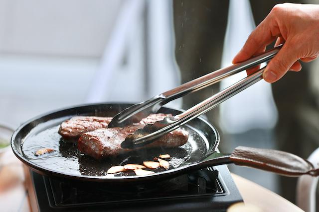 ホテルグランフェニックス奥志賀19鹿肉のステーキ