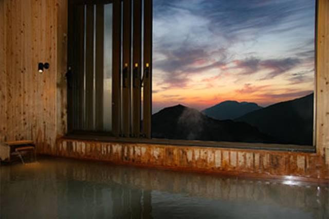展望風呂の夕景