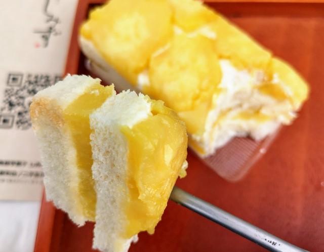 東京都・渋谷「高級芋菓子しみず 渋谷東急フードショー店」お芋のオープンサンド(一口分)
