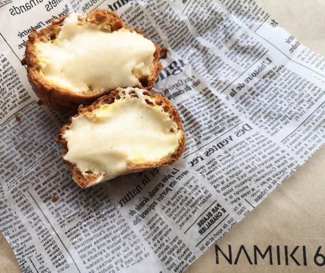 東京都中央区・「NAMIKI667」銀座のシュークリーム(クリーム)1