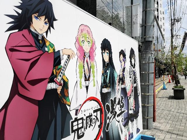 東京都台東区・『鬼滅の刃』×浅草のコラボイベント、エリア内のパネル展示