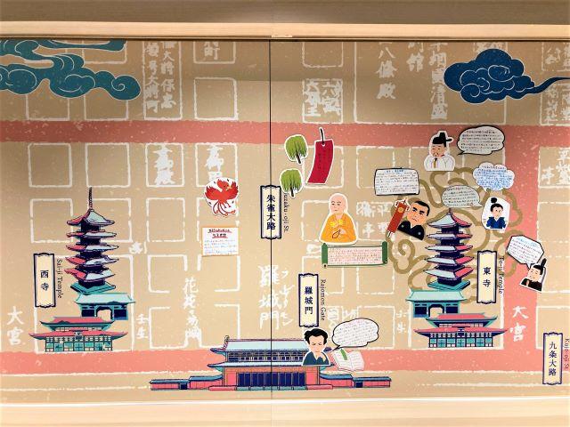 星野リゾート OMO3京都東寺 平安時代の地図