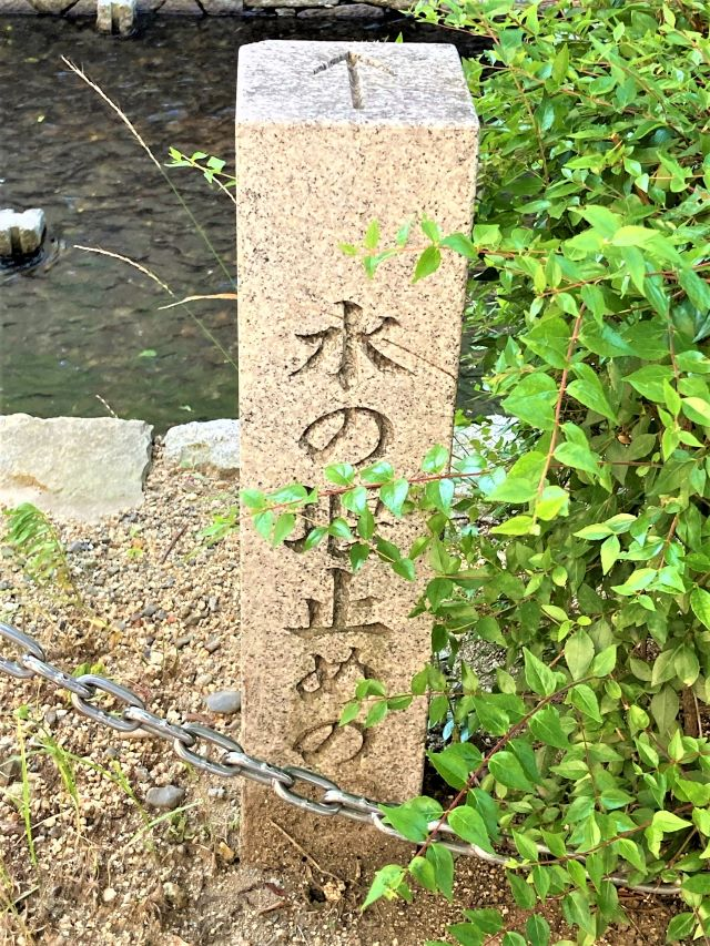 水の堰き止め石