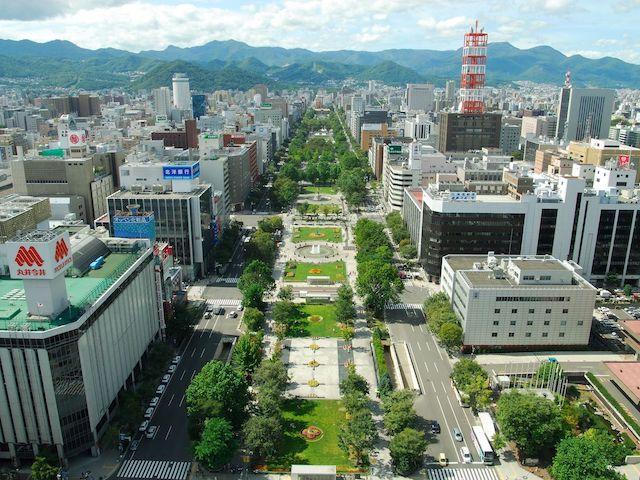 北海道札幌市大通公園俯瞰