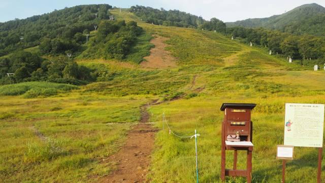 登山口はスキー場