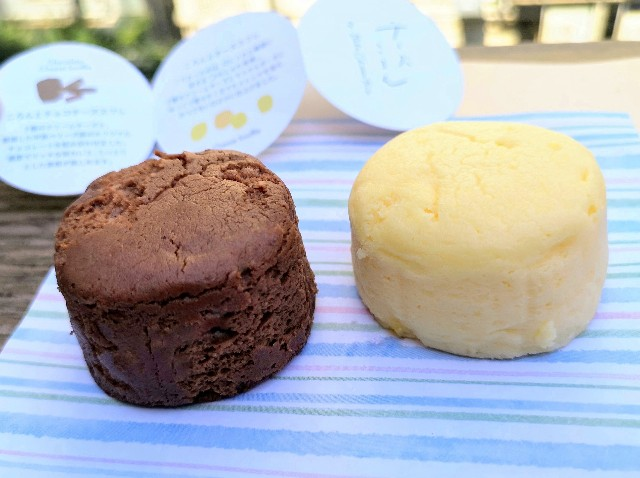 東京都渋谷区・「チーズころん by BAKE CHEESE TART 渋谷 東急フードショー店」ころんとチーズスフレ・ころんとチョコレートチーズスフレ2