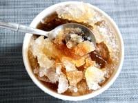 黒糖かき氷をテイクアウト