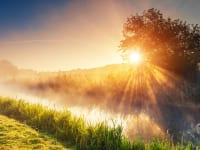 太陽の日が照らすイメージ