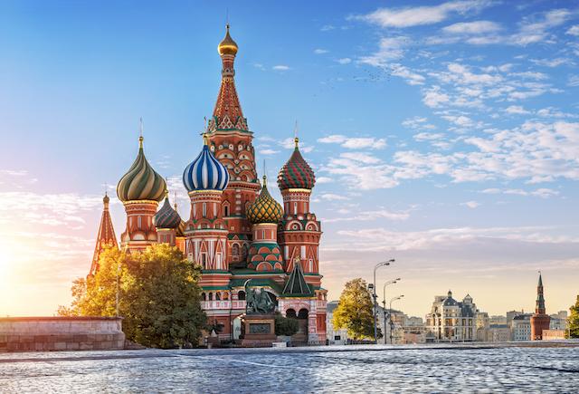 ロシア・モスクワ赤の広場聖ワシリィ大聖堂