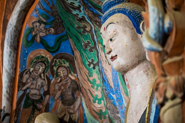 中国・莫高窟の仏像