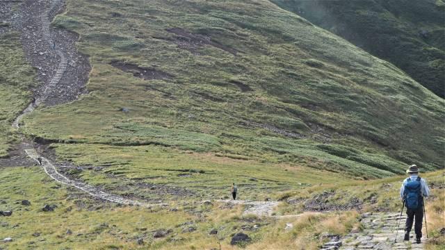 遠い登山者