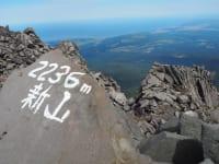 鳥海山頂と日本海