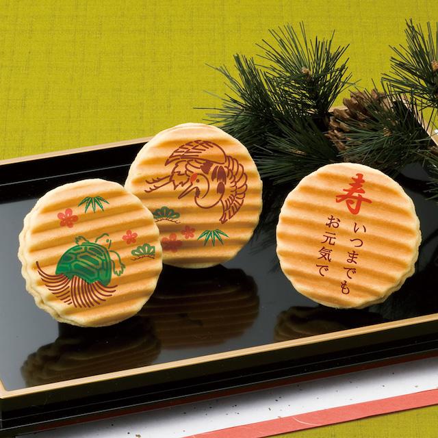 京菓子處鼓月のオリジナル千寿せんべい