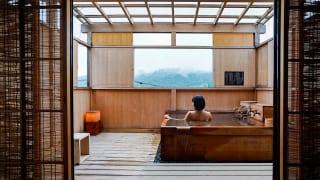 ゆがわら風雅 客室露天風呂