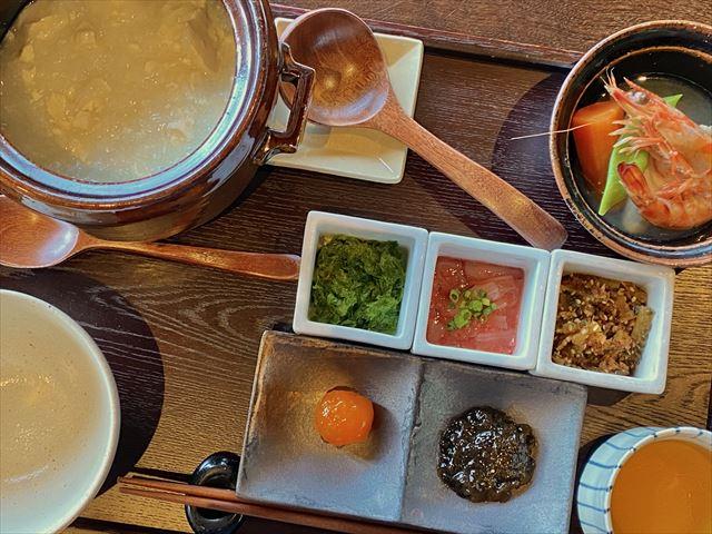 星のや竹富島 ゆし豆腐粥朝食