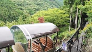 奈良県吉野郡・「面不動鍾乳洞」へのモノレール(ドロッコ)終点