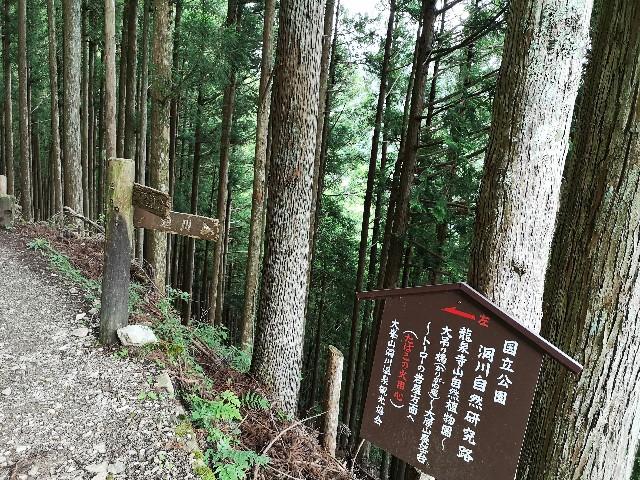 奈良県吉野郡・「洞川自然研究路」