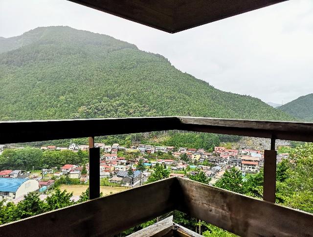 奈良県吉野郡・「洞川自然研究路」展望台
