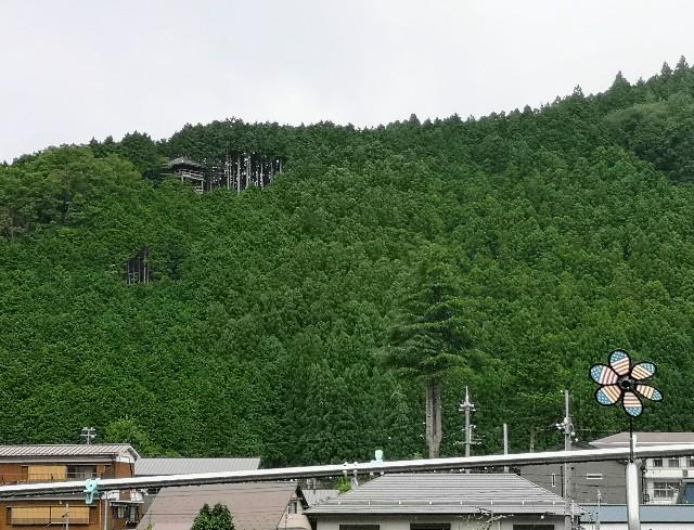奈良県吉野郡・「洞川自然研究路」の展望台