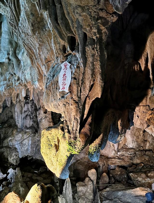 奈良県吉野郡・「五代松鍾乳洞」鷲の大鍾乳石