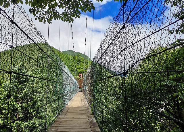 奈良県吉野郡・洞川「かりがね橋」
