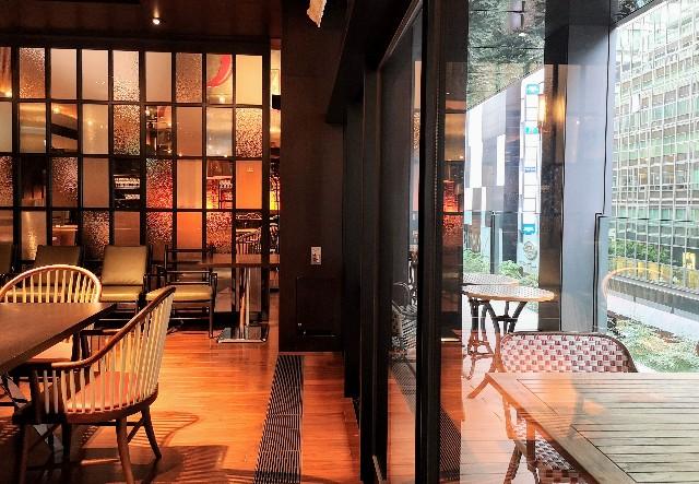 東京都中央区・ダイニング・バー&ラウンジ「NAMIKI667」(Hyatt Centric Ginza Tokyo 3階)店内とテラス