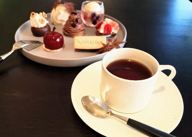東京都中央区・ダイニング・バー&ラウンジ「NAMIKI667」(Hyatt Centric Ginza Tokyo 3階)9月限定「Vegan Cake Set」3