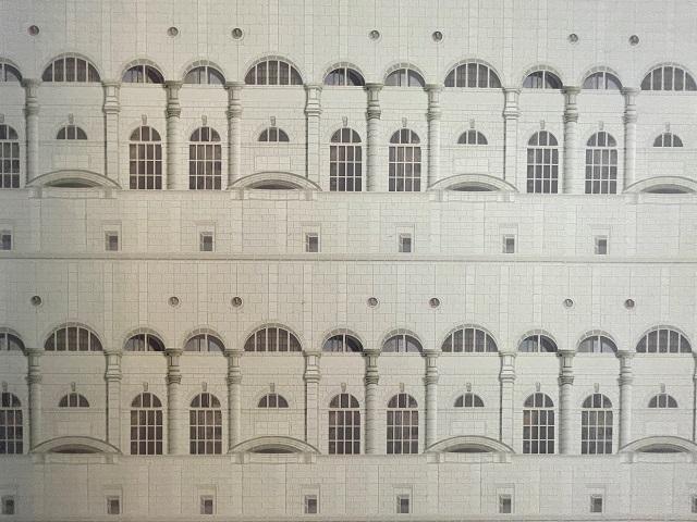 アロフト大阪堂島、室内の壁紙