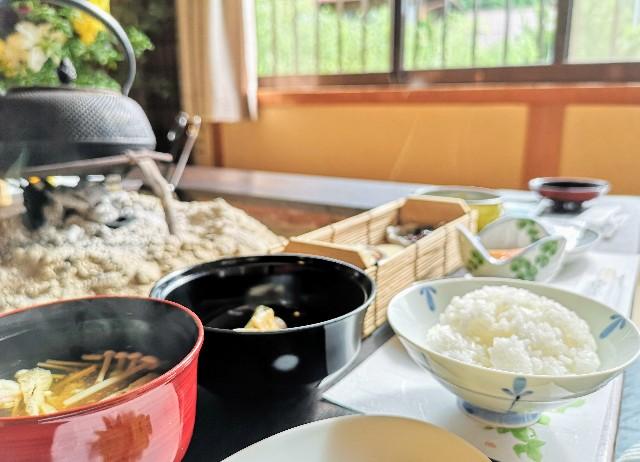 奈良県吉野郡・「花あかりの宿 柳屋」旬の地場産野菜料理と美味しい出汁まき玉子焼き朝食プラン4