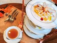東京都港区・グランドニッコー東京 台場 2階「The Lobby Cafe」9月限定「マリーゴールドオレンジ アフタヌーンティーセット」ティー付