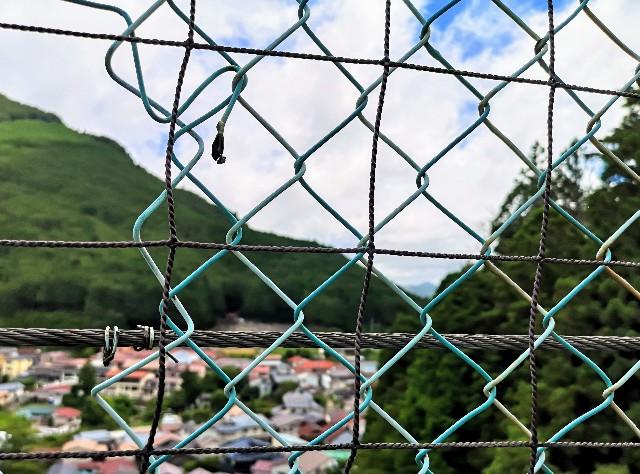 奈良県吉野郡・「かりがね橋」からの眺め