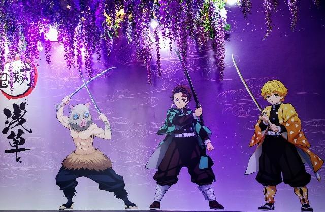 東京都台東区・『鬼滅の刃』×浅草のコラボイベントショップ展示2