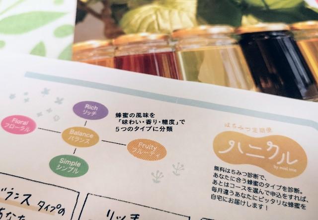 京都府京都市・蜂蜜専門店「ミールミィ」はちみつ定期便「ハニクル」チラシ