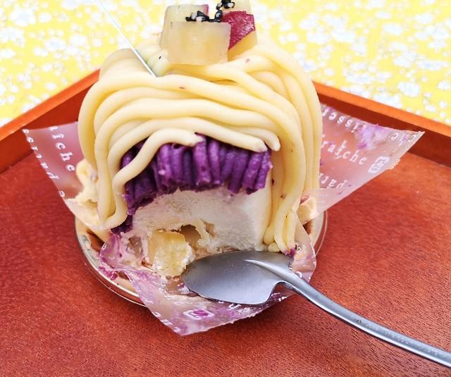 東京都新宿区・「シャトレーゼ」芋栗フェア(3種のお芋モンブラン)シルクスイートのムース