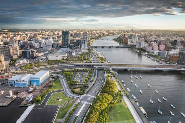 新潟県新潟市と信濃川