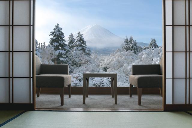 冬の高級旅館