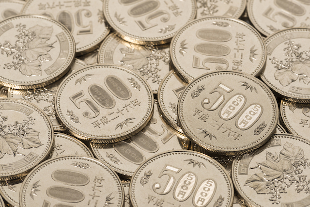 500円硬貨集合