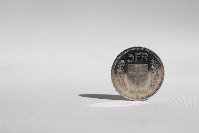 スイスフラン硬貨