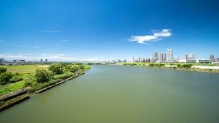 埼玉県川口市を流れる荒川