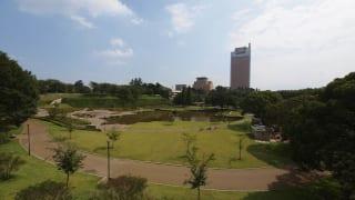 群馬県庁と前橋公園(前橋市)